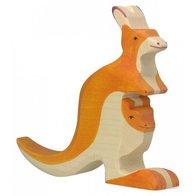 Holztiger - Känguru med unge