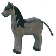 Holztiger -Häst Svart